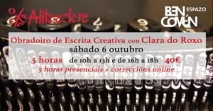 Obradoiro de Escrita Creativa con Clara do Roxo @ BenComún Espazo