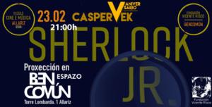 Sherlock Jr. Caspervek Cine mudo con música en directo @ BenComún Espazo