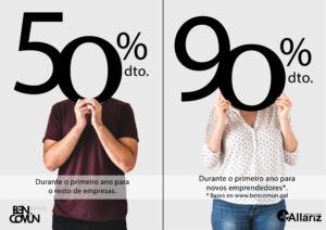 Oferta 90% e 50% empresas