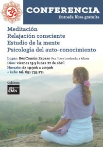 Conferencia. Meditación, relajación consciente, auto-conocimiento @ BenComún Espazo