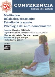 Conferencias. Meditación, relaxación consciente, auto-coñecemento @ BenComún Espazo