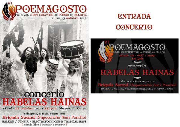 Concerto Habelas Hainas no Poemagosto - Entrada