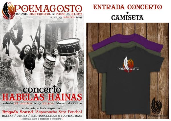 Concerto Habelas Hainas - Entrada e Camiseta Poemagosto